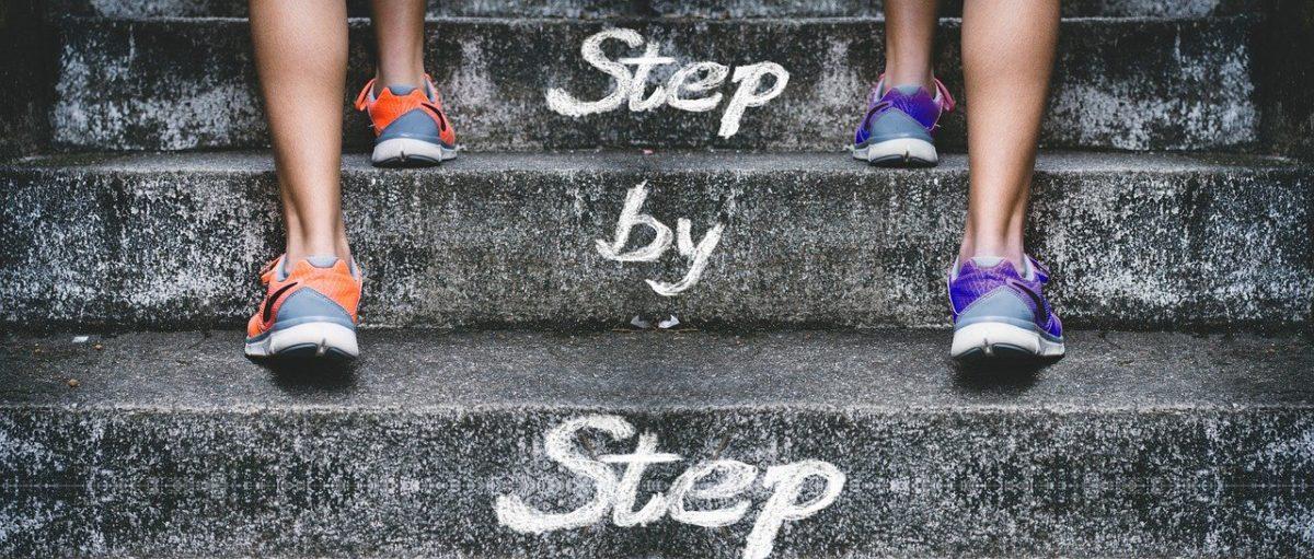 stairs gradually feet